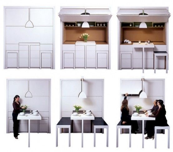 Mini Kitchen Area: Nice Room Designs For Small Spaces