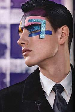 Glittery Man Makeup Fashion Show Makeup Futuristic Makeup Male Makeup