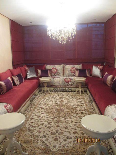 Salon classique en angle dans Salon marocain . Idée décoration de ...