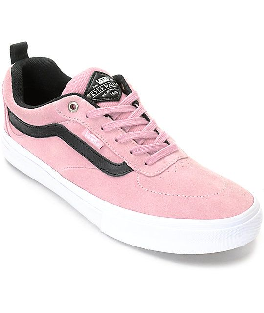 decd171df4 Vans Walker Pro Pink Skate Shoes at Zumiez   PDP