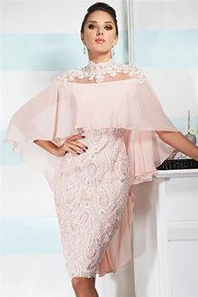 Brautmutterkleider knielang chiffon