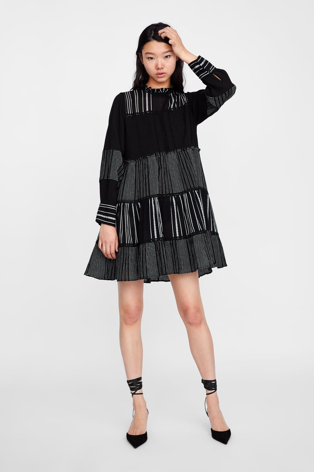 e94bdbd0058e Dress with contrasting embroidery | New Woman's bodies 8/8/17 | Zara ...