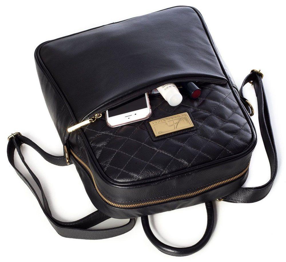 90b064369 Mochila feminina com matelassê em couro legítimo preta - Enluaze Loja  Virtual | Bolsas, mochilas e pastas