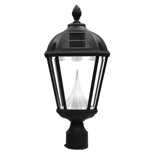 the gama sonic royal solar outdoor light fixture model gs 98f is the