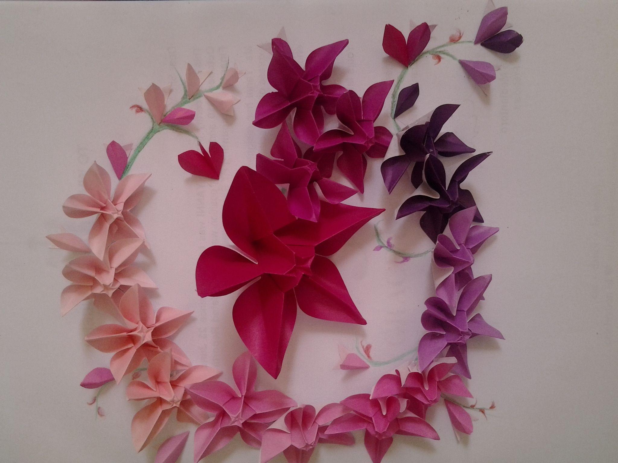 Origami Carambola Flower Origami Pinterest Origami