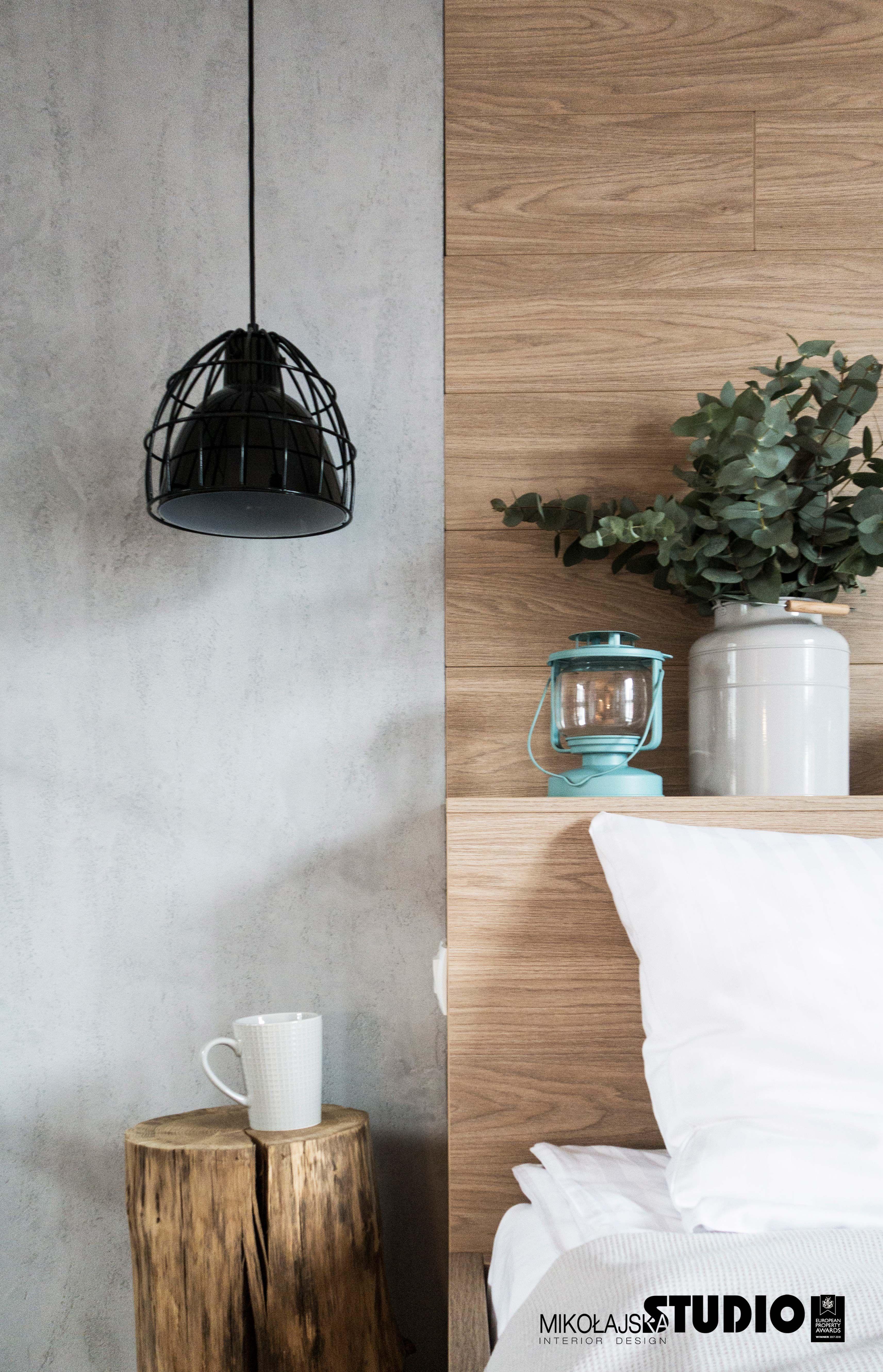 Nowoczesna Lampa Betonowa Sciana Drewniany Zaglowek Home Decor Bedroom Decor Home