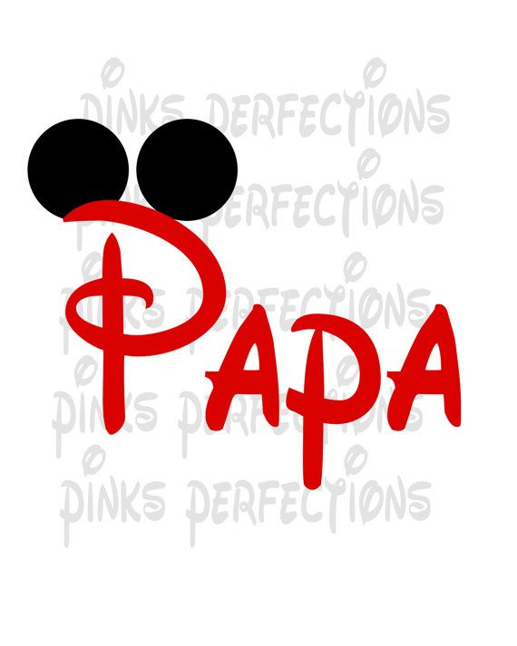 DISNEY MICKEY MOUSE VACATION********* PAPA***** T-SHIRT IRON ON TRANSFER