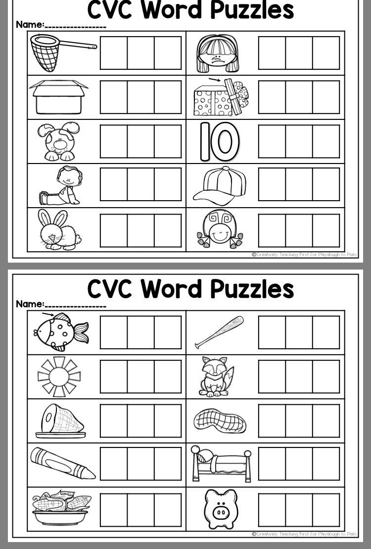 Cvc Word Puzzles Cvc Words Kindergarten Cvc Words Cvc Words Worksheets [ 1108 x 750 Pixel ]