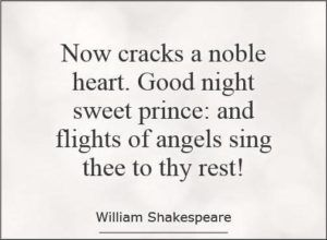 Shakespeare Quotes Goodnight Sweet Prince Deep Shakespeare