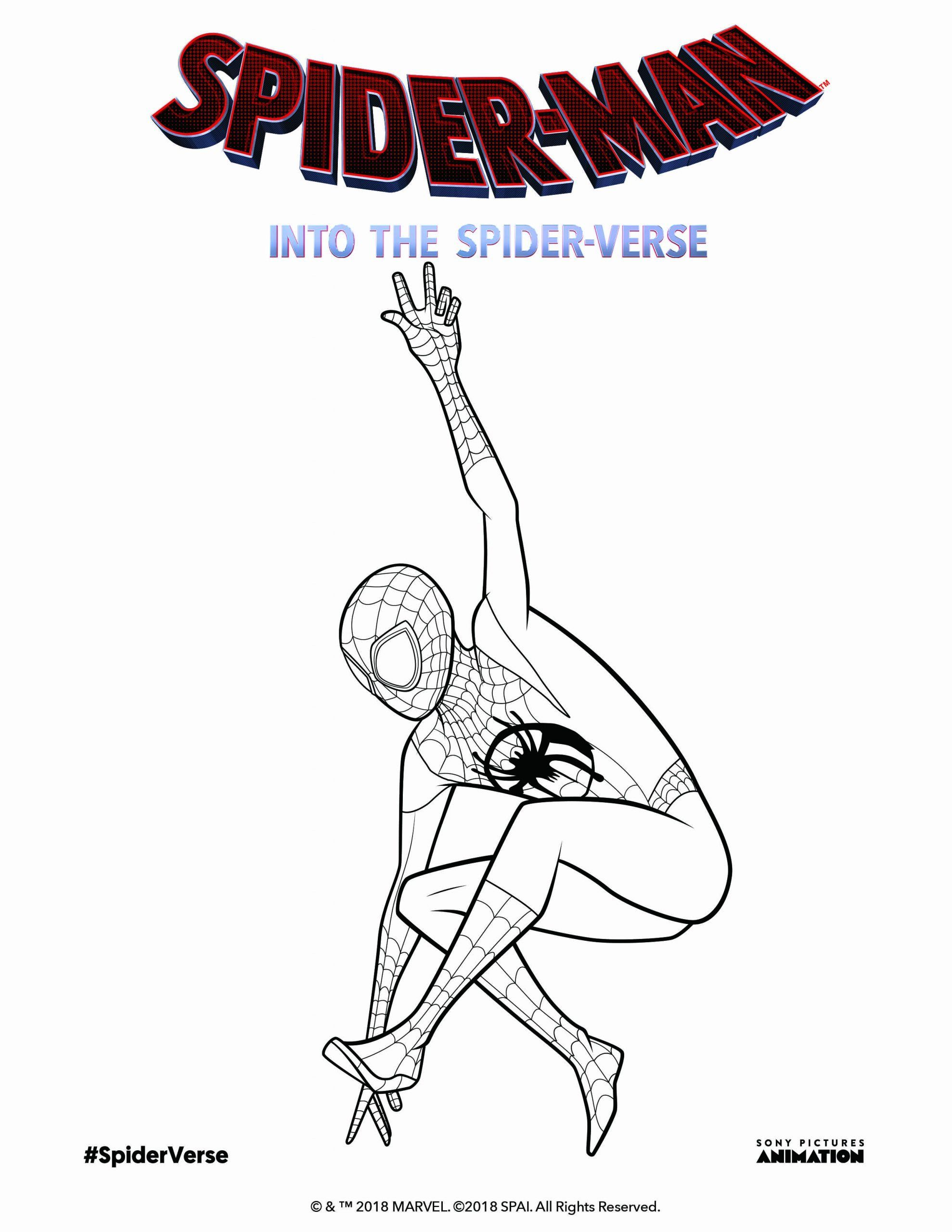 Miles Morales Coloring Page Unique Get Ready For Spiderman Into The Spiderverse By Coloring Spiderman Coloring Avengers Coloring Pages Miles Morales Spiderman