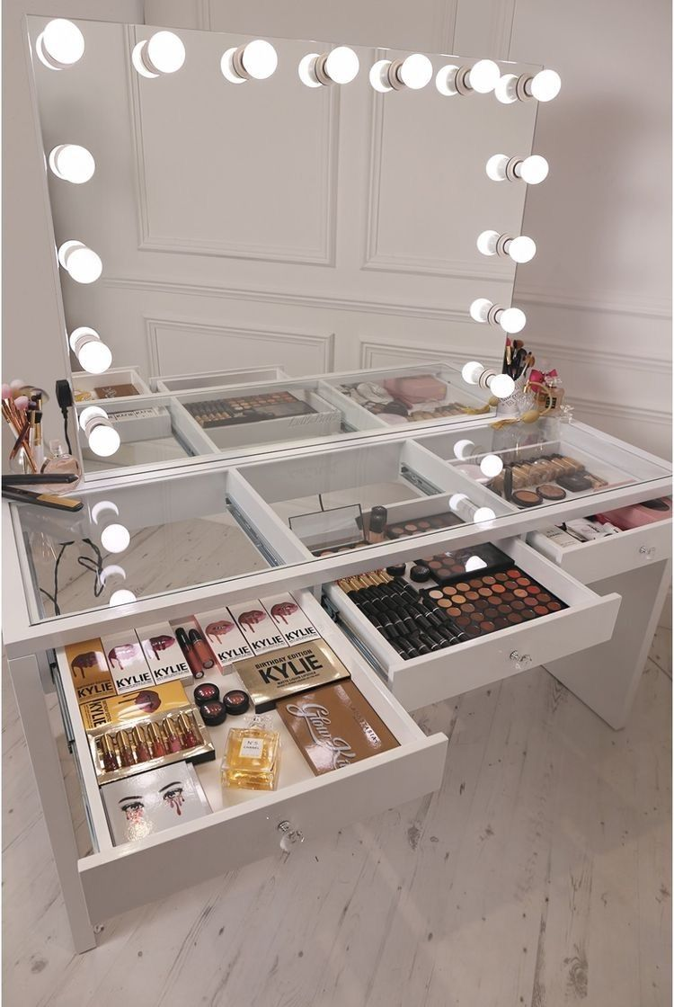 Mirror with lights for the vanity. Bulb Color White