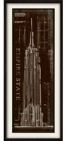 Ptm images empire state building blueprint wall art empire state ptm images empire state building blueprint wall art malvernweather Gallery