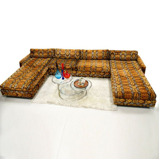 Fantastic 1970S Lounge Sectional Sofa Family Room Decorating Creativecarmelina Interior Chair Design Creativecarmelinacom