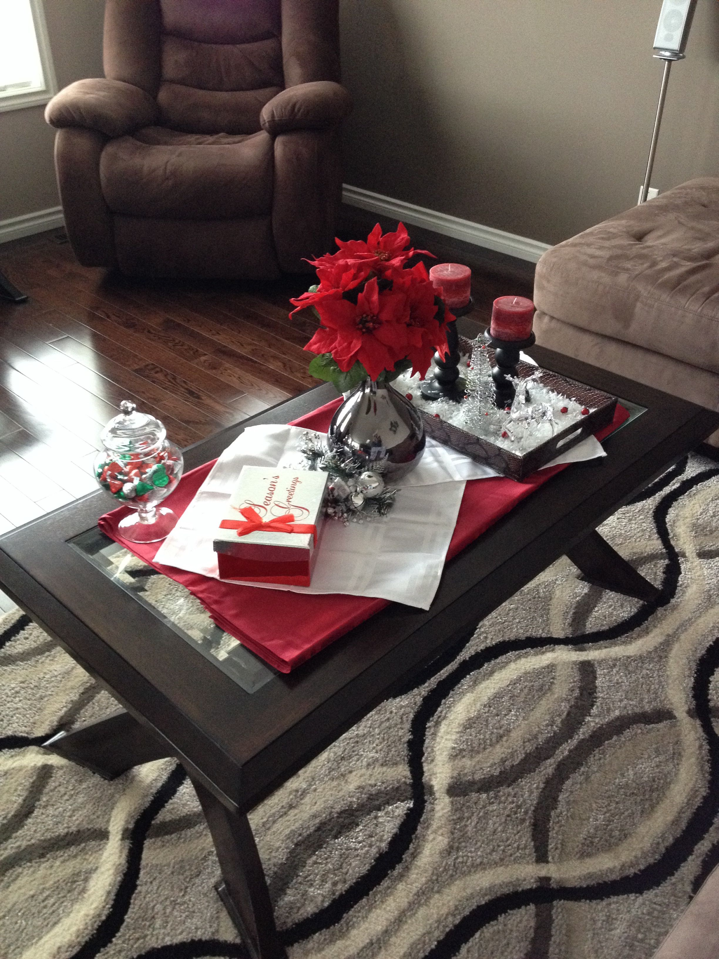 Christmas decor for a coffee table | Decorating coffee ...