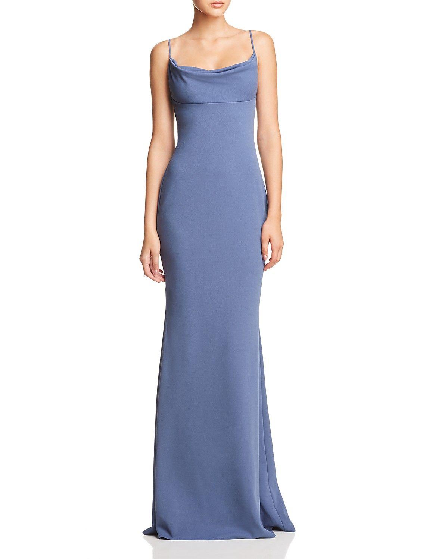 Katie May Lola Cowl Neck Gown 100 Exclusive Women Bloomingdale S Steel Blue Bridesmaid Dresses Braidsmaid Dresses Empire Waist Prom Dresses [ 1500 x 1200 Pixel ]
