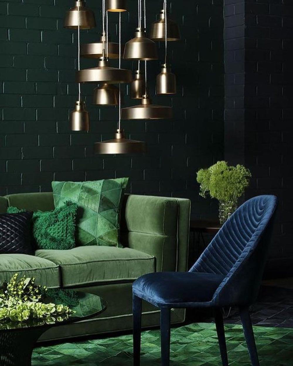 50 фото зеленый цвет в интерьере гостиной – 2019 Дизайн ...