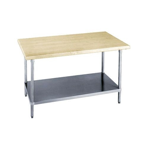 Advance Tabco Wood Top Work Table With Stainless Steel
