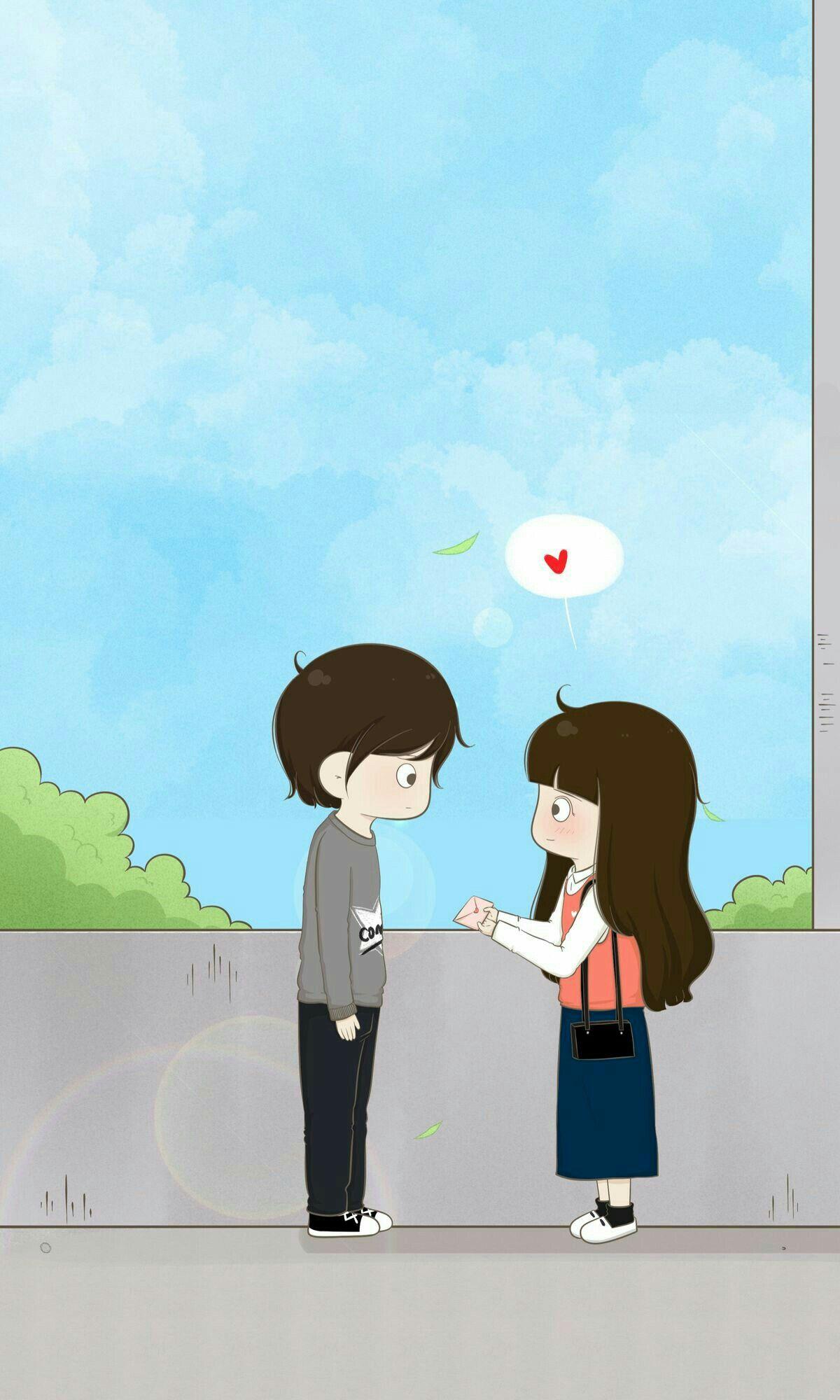 L Oev E Cute Couple Wallpaper Love Cartoon Couple Love Animation Wallpaper