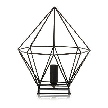 George Home Geometric Wire Table Lamp