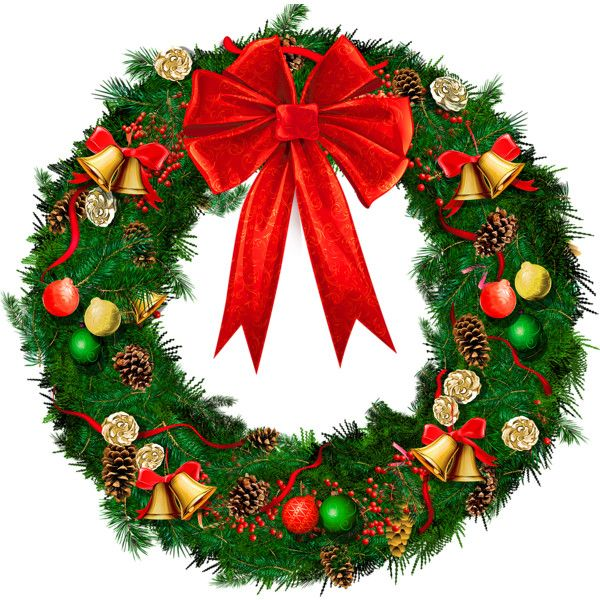 Transparent Christmas Wreath With Red Bow Png Picture Liked On Polyvore Featuring Hom Christmas Dinner Prayer Christmas Decorations Garland Christmas Wreaths