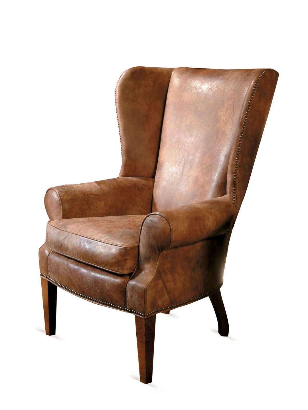 Traditional Leather Wingback Chair Herman Miller Embody Used Harden Furniture Wing Interiors Architecture