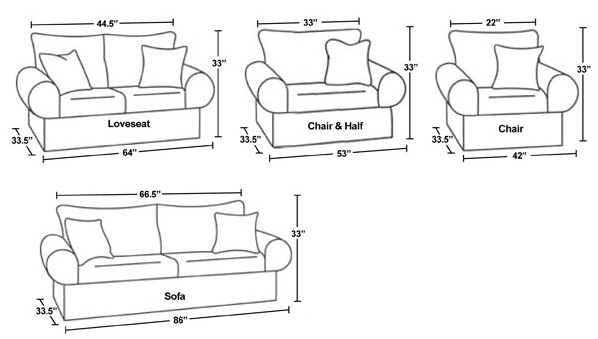 Standard Couch Size dimensions diagram | drafting | pinterest | modern and decorating