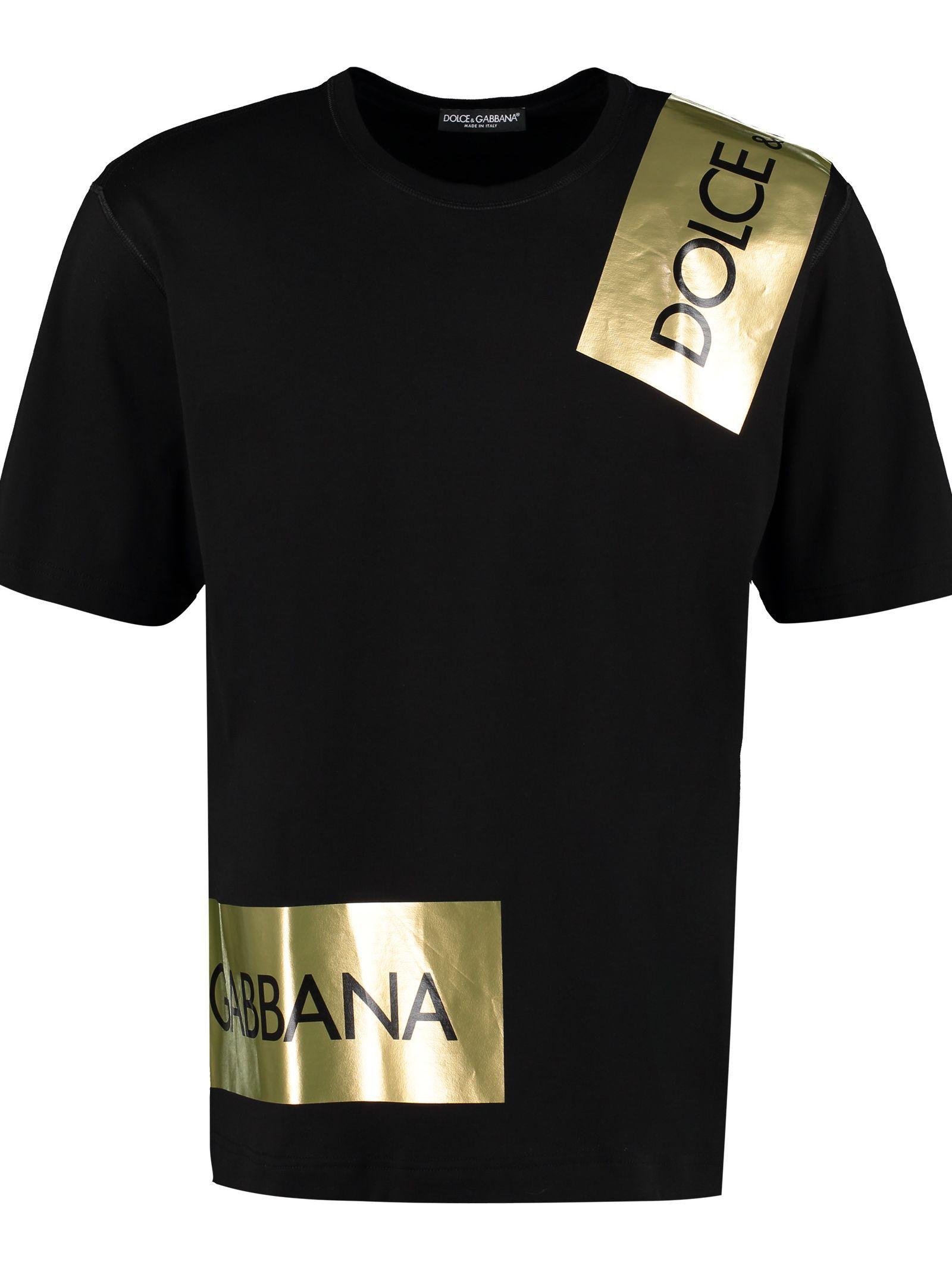 Dolce Gabbana Printed Cotton T Shirt Dolcegabbana Cloth Cotton Tshirt Dolce And Gabbana Printed Cotton