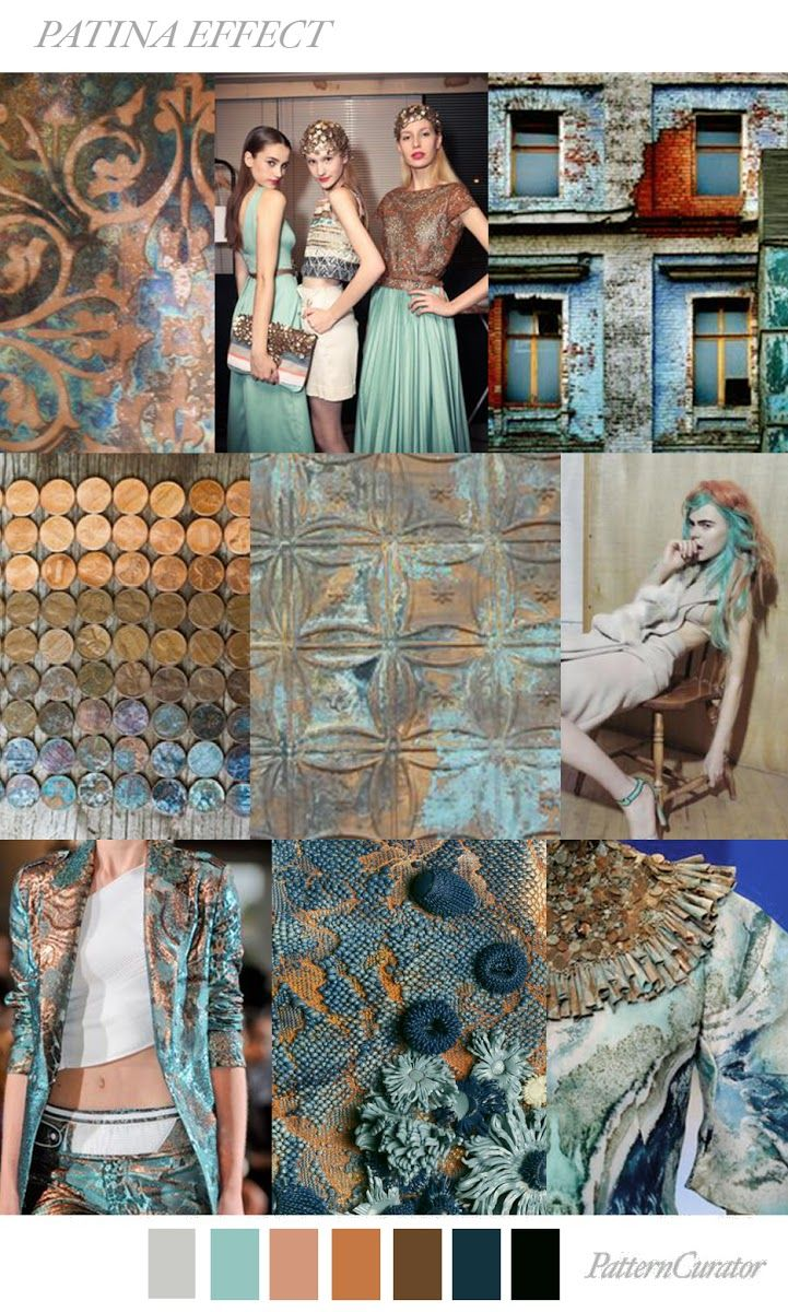 TRENDS // PATTERN CURATOR - PATINA EFFECT . SS 2018 ...