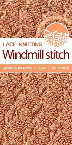 Photo of Lace knitting stitch of the Month – May 2018. Free Lace Knitting Pattern.