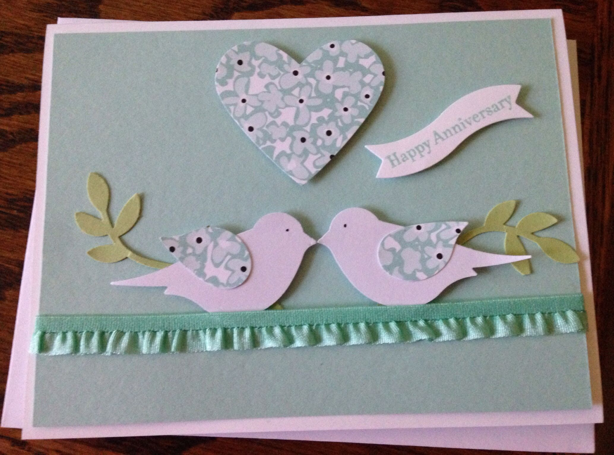 Stampin up anniversary card for my husband cards to make