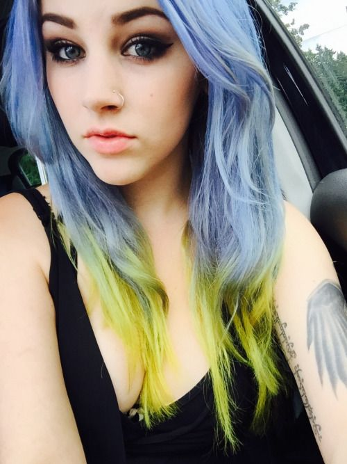 Twiiggs tumblr ion shark blue  chartreuse also fun hair dye rh pinterest