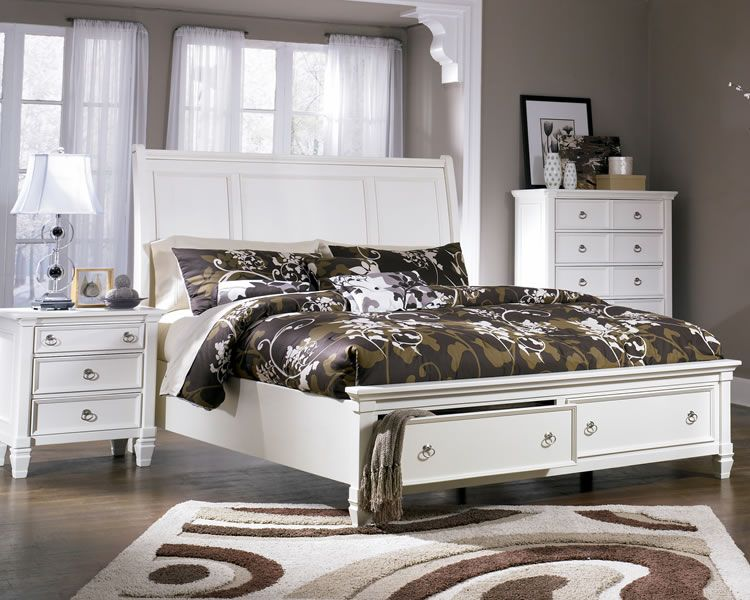 Stupendous Prentice White Bed With Storage Footboard Home Renovations Home Interior And Landscaping Mentranervesignezvosmurscom