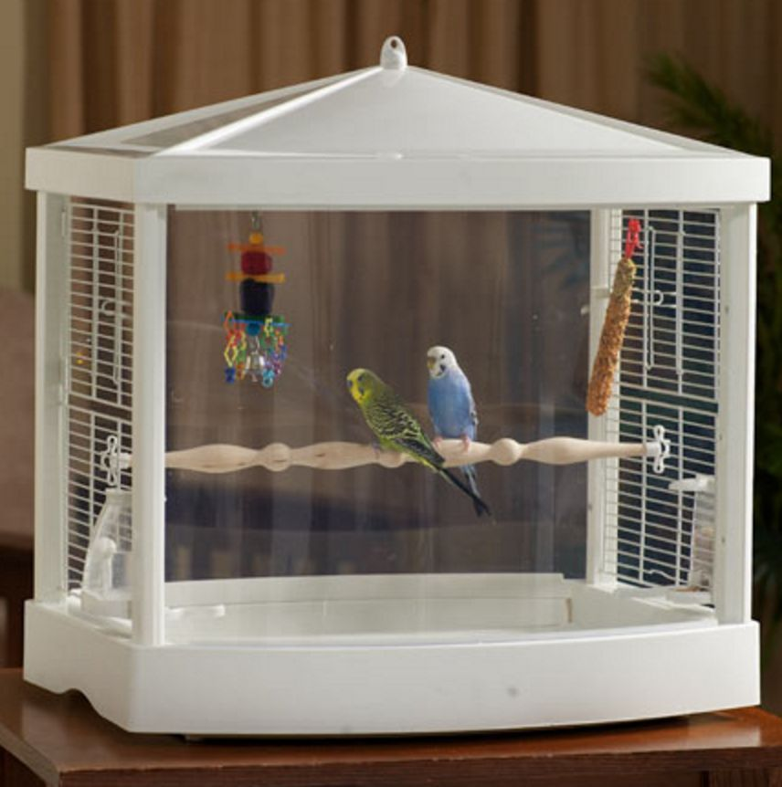 Cockatiel Bird Cage See Thru House Canary Finches Parakeets