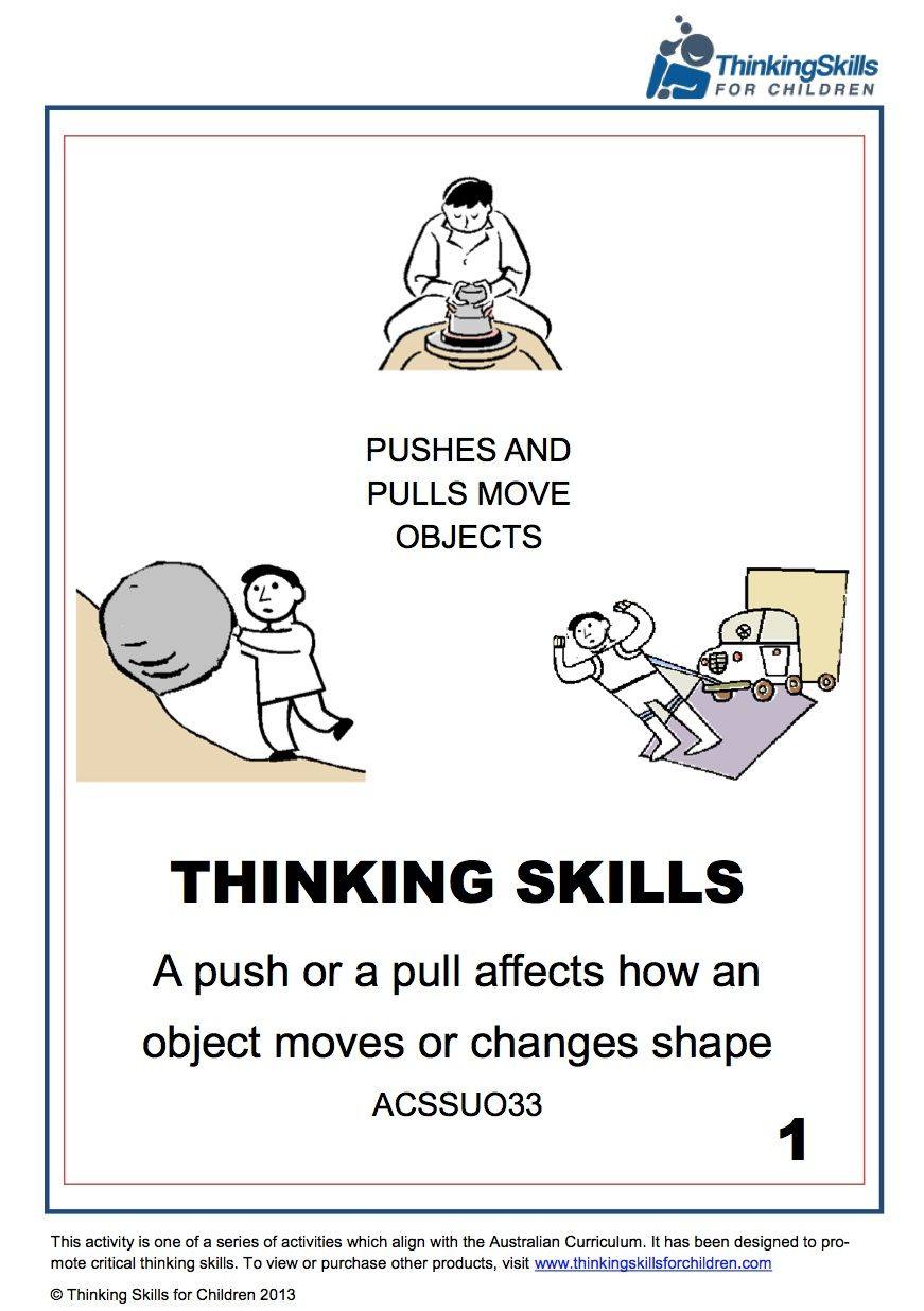 Push And Pull Affects Objects Yr2 – Science 17 pages of