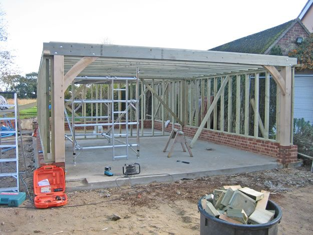 Captivating Timber Garage Construction