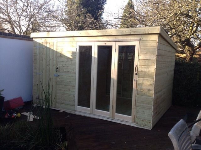 Combination shed summerhouse stuga pinterest office for Shed office combo