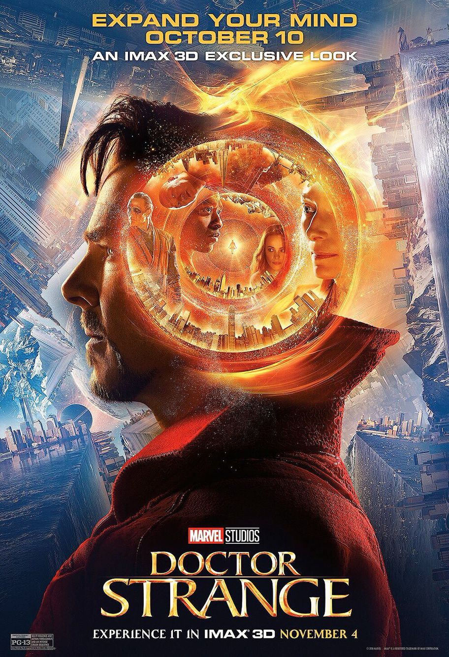 New Imax Movie Poster From Doctor Strange Marvel Doctor Strange Doutor Estranho Dr Estranho