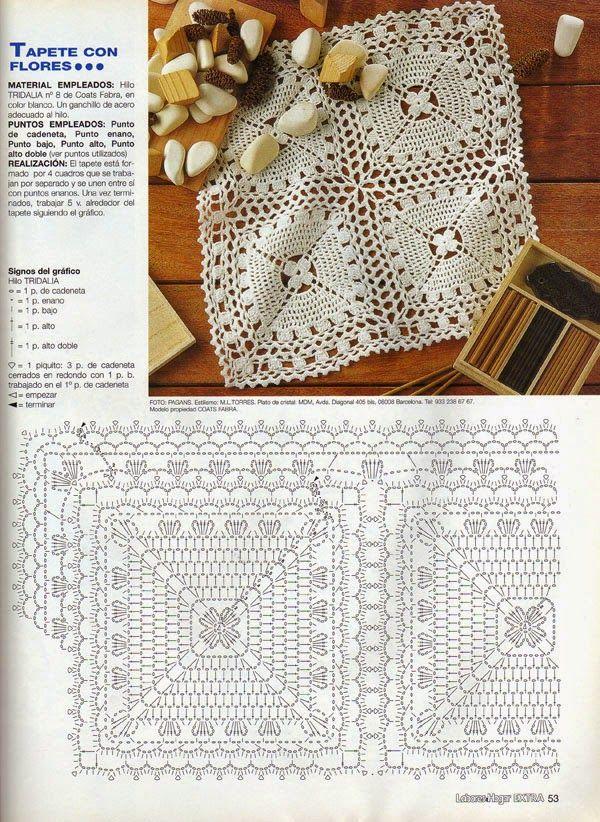 MARVELLOUS patron | centros de mesa | Pinterest | Crochet, Squares ...