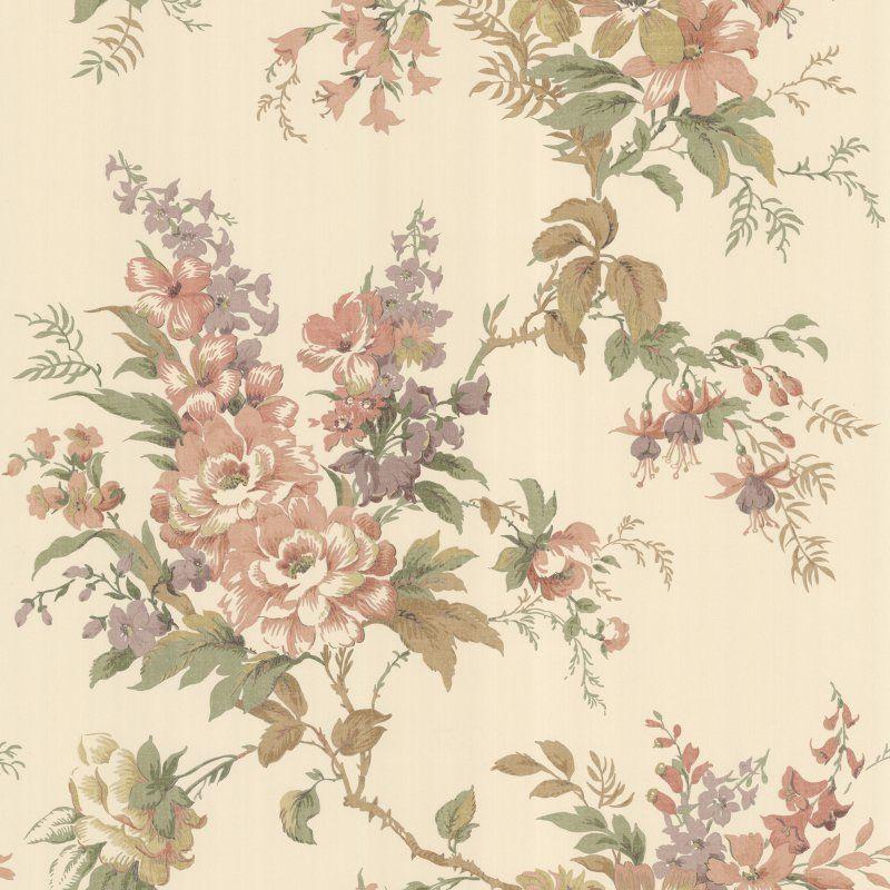 Beacon House Lush Floral Trail Wallpaper Peach - 302-66837