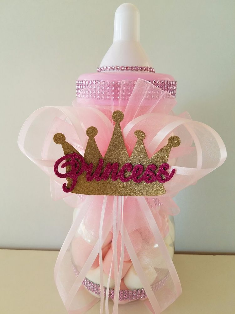 Princess Crown Centerpiece Bottle Large 12 Quot Baby Shower