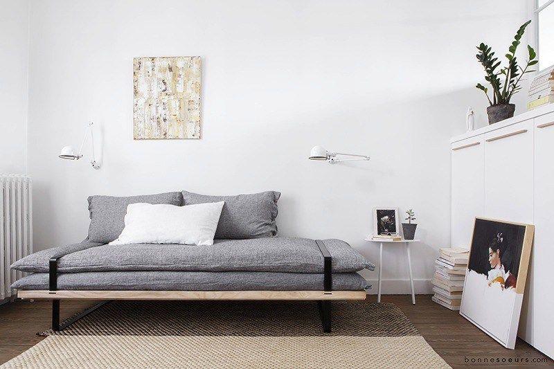 la banquette daybed lit d 39 appoint au design minimaliste bonnesoeurs blog deco banquette et blog. Black Bedroom Furniture Sets. Home Design Ideas
