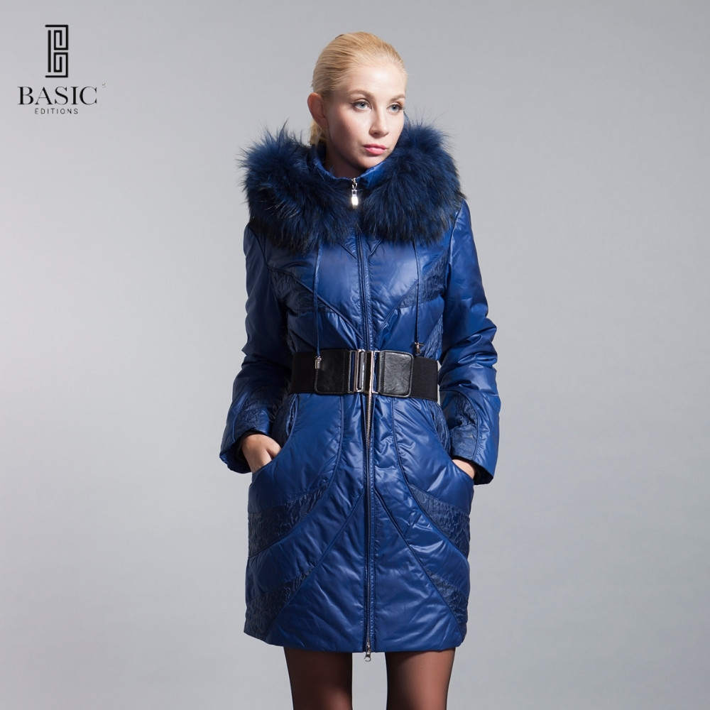 45  Know more - BASIC-EDITIONS Winter Extra Large Fur Collar Down Coat  White Duck Feather Women s Down Jacket ZY12069 Free Shipping  bestbuy 0ae5560b8985