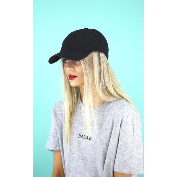 8dab8dd01a1d1 Cats got the Cream Black Basic Baseball Cap ( 30) ❤ liked on Polyvore  featuring accessories