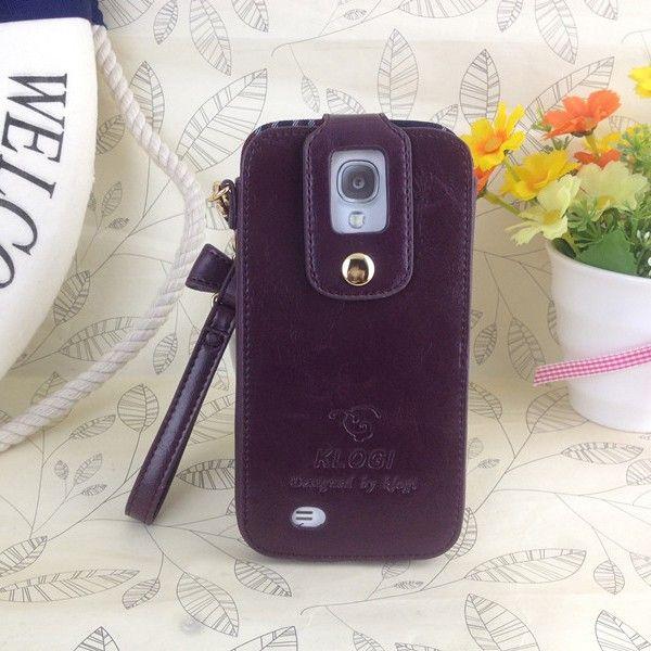 Klogi Case Cover Detachable Hand Strap for Samsung Galaxy S4 - Purple