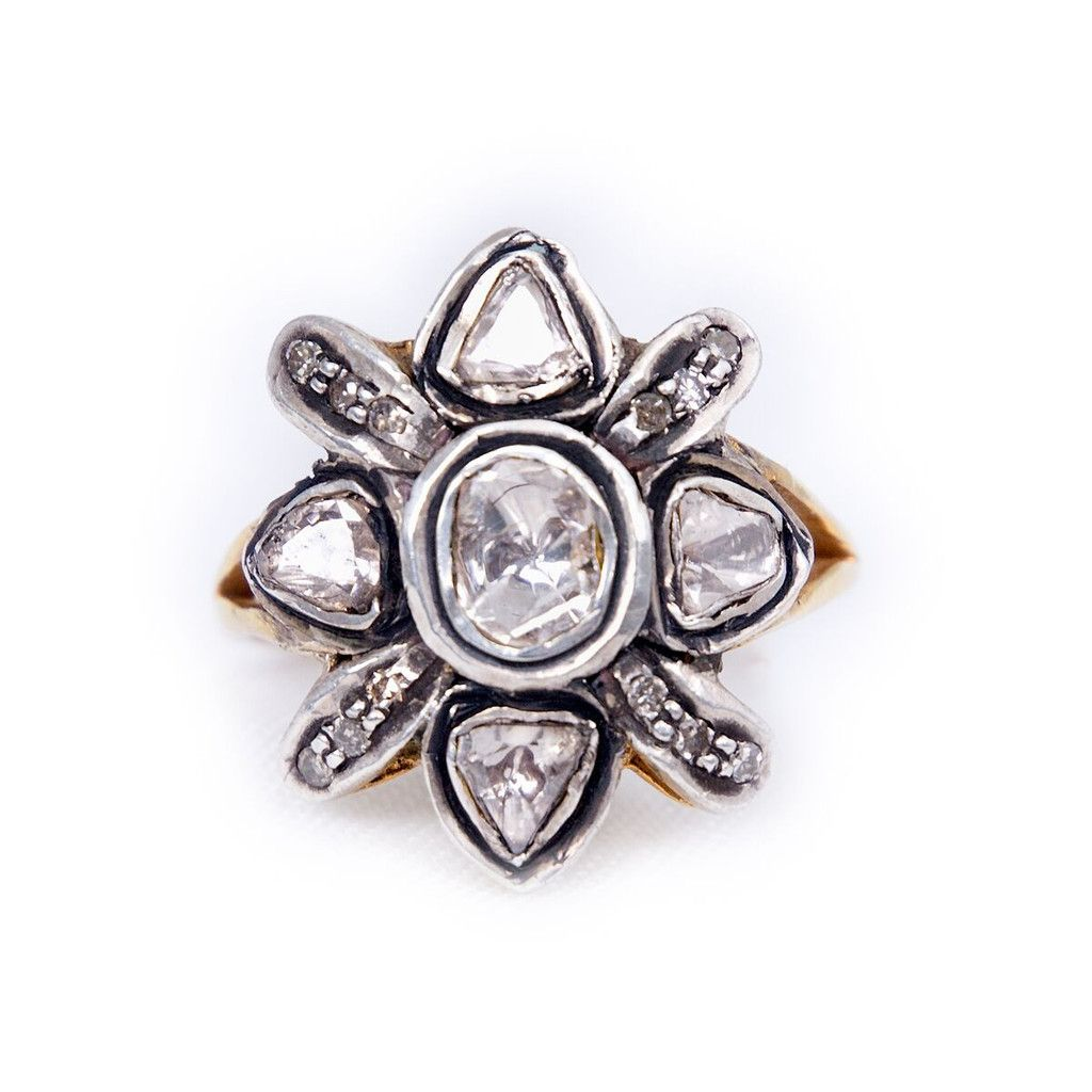 diamond m pin flat obsessed ring flower cut i pinterest