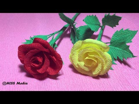 How to make diy hibiscus crepe paper flower tutorialshibiscus how to make rose crepe paper wedding flowersdiy roses flowerorigami roses crafts tutorials mightylinksfo