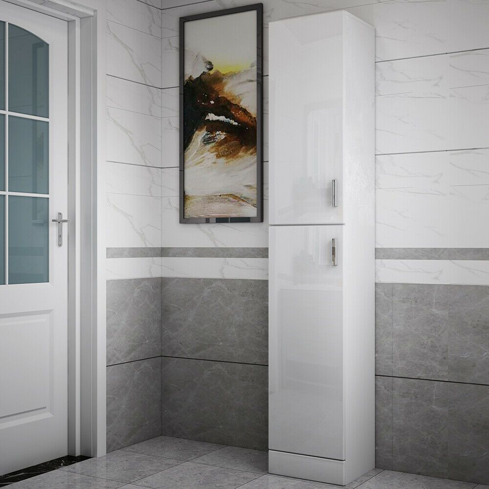 White High Gloss Furniture In 2020 With Images High Gloss Furniture Bathroom Furniture Storage Furniture