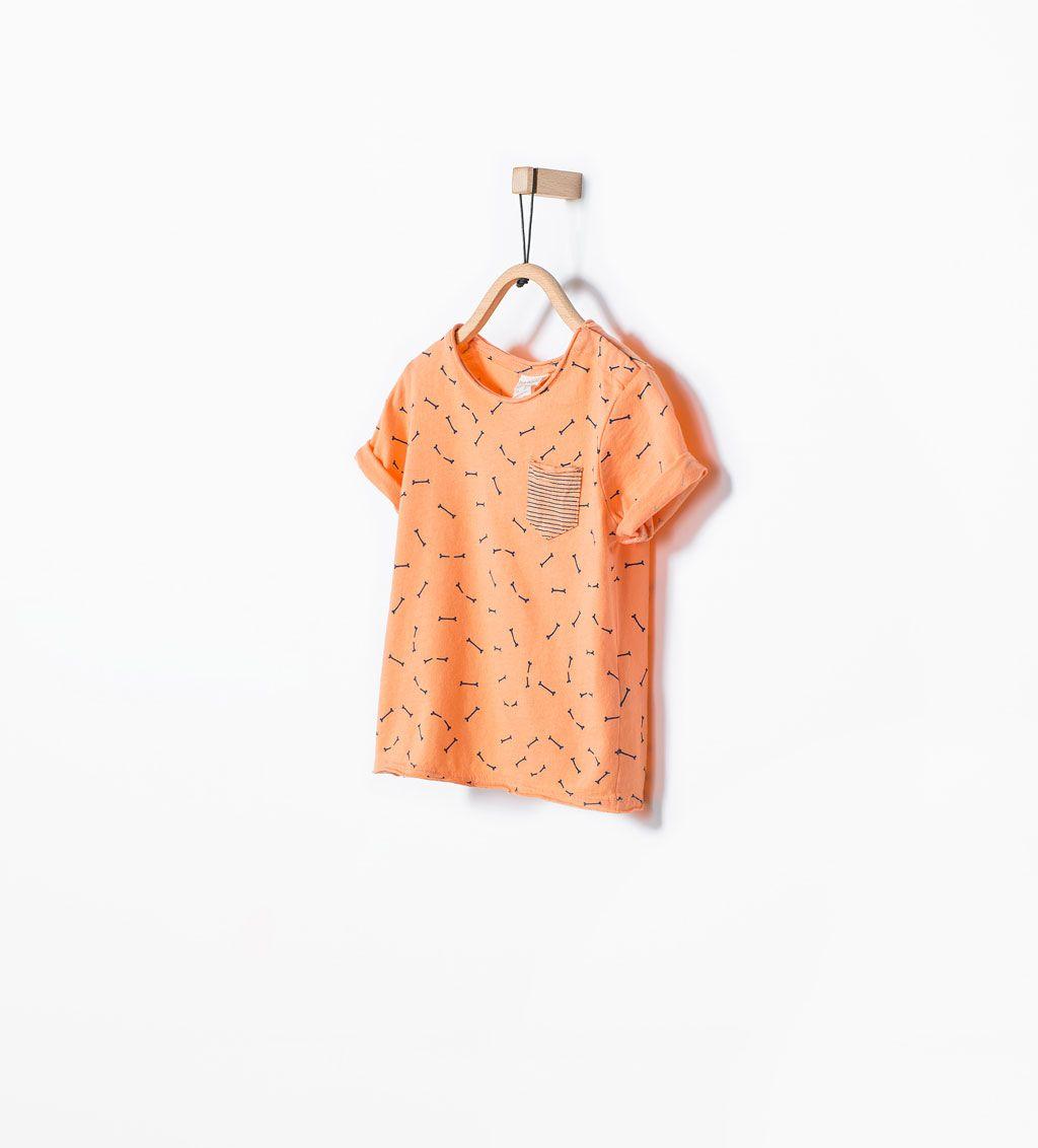 Bild 1 von T-Shirt mit Knochenprint von Zara