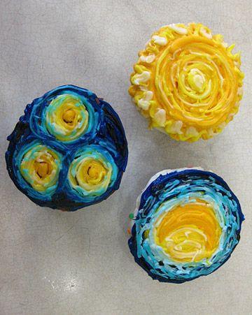 Van Gogh Cupcakes