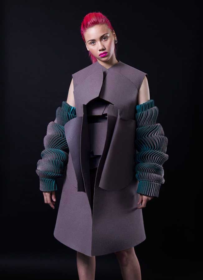Futuristic waves of style